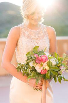 Pink garden wedding bouquet | Pure In Art Photography