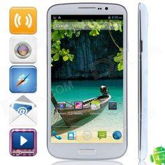 "U692 MTK6592 Octa-Core Android 4.2.2 WCDMA Bar Phone w / 6.5"" OGS HD, FM, Wi-Fi, OTG, GPS - White - US$ 263.26 - 03/04/2014 - deal-dx"
