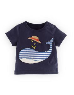 Mini Boden 'Big Appliqué' Cotton T-Shirt (Baby Boys) available at Mini Boden, Cute Outfits For Kids, Baby Boy Outfits, Carters Baby Clothes, Boden Boys, Kids Clothing Brands, Make Your Own Clothes, Toddler Boy Fashion, Nordstrom