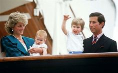 The royal family pictured in Venice, Italy 1985.