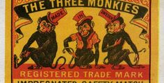 The Three Monkeys #tulitikkuetiketit #etiketit #matchbox #labels