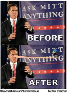 """""""Ask Mitt Anything.""""  Just don't be surprised when this happens."""