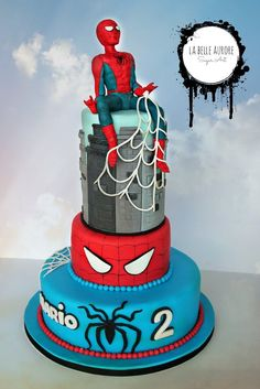 Spider Man cake #superhero