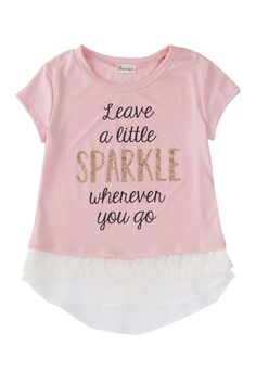 Ten Sixty Sherman | Scoop Neck Leave A Little Sparkle Tee (Big Girls) | Nordstrom Rack