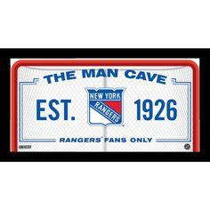 NEW YORK RANGERS FRAMED 10X20 MAN CAVE SIGN - Purchase here: http://stnr.co/1PtGvr8