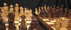 Firefighter's Chess Set on etsy handmade by JimArnoldsChessSets, $700.00