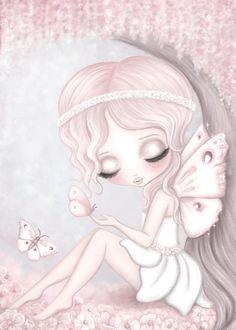Grace the butterfly fairy print -full background – Isla Dream Prints Nursery Decals, Nursery Prints, Wall Prints, Nursery Art, Butterfly Fairy, Unicorn Art, Kids Prints, Fairy Art, Texture Art