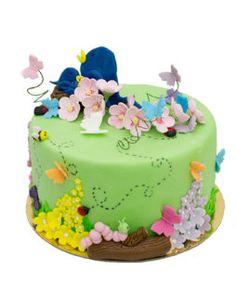 tort pasari Birthday Cake, Desserts, Food, Tailgate Desserts, Deserts, Birthday Cakes, Essen, Postres, Meals