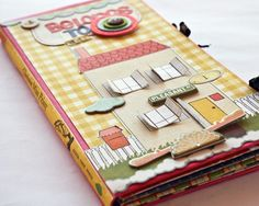 paper doll houses | ... Craft Paper patterned papers to give her dolls house a retro feel