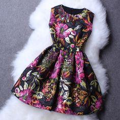 Fashion Embroidery Jacquard Sleeveless Dress AX30403ax