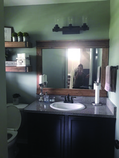 Are you searching for best bathroom mirror ideas? This beautiful bathroom mirror ideas are fun, stylish and creative. Unique Bathroom Mirrors, Farmhouse Bathroom Mirrors, Rectangular Bathroom Mirror, Bathroom Mirror With Shelf, Bathroom Mirror Makeover, Beautiful Bathrooms, Hall Bathroom, Bathroom Ideas, Budget Bathroom Remodel