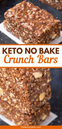 30 Easy Keto Snacks For Rapid Weight Loss - TheBeautyMax - Recipes Low Carb Sweets, Low Carb Desserts, Keto Cookies, Keto Recipes, Snack Recipes, Atkins Recipes, Easy Recipes, Dessert Recipes, Chocolate Crunch