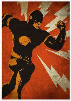 Flash Retro Pop Art A3 Poster Print by posterkingdom on Etsy