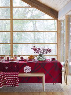 * Marimekko fall-winter 2017 home collection. Exterior Barn Lights, Exterior Patio Doors, Exterior Doors With Glass, Interior Design Inspiration, Home Decor Inspiration, Decor Interior Design, Interior Decorating, Nordic Christmas, Christmas Design