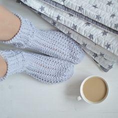 Lenošení ... - háčkované ponožky fialkové Scarf Hat, High Socks, Arm Warmers, Mittens, Knitting, Crochet, Fingerless Mitts, Thigh High Socks, Tricot
