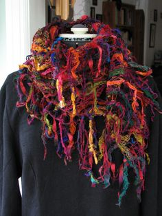 How to Make a Scarf | Neurobics: Keeping the Mind Active: Fiber fantasy scarf: Fringe ...