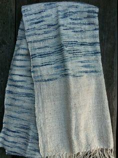 100% organic hand woven cotton shawl/scarf: Freestyle by ikatandme