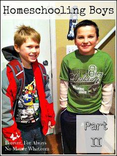 Homeschooling Boys :: Part II