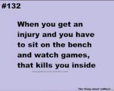 & you sit on the bench & freak out cause you could have made the play someone in your spot didn't !!