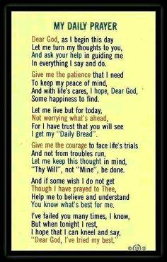 Prayers Daily: My daily prayer Prayer Times, Prayer Scriptures, Bible Prayers, Faith Prayer, God Prayer, Power Of Prayer, Catholic Prayers Daily, Bible Verses, Prayer Room