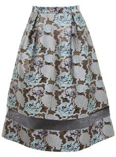 Jaquard Organza Midi Skirt - Miss Selfridge
