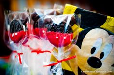 Mickey mouse goodies...cute idea for jakes birthday party!