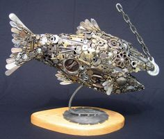 Junk Yard Fish by Joe Pogan... I NEED to learn how to weld... :)