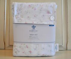 Simply Shabby Chic Candy Pink Blue Floral QUEEN Sheet Set Cottage Rachel Ashwell
