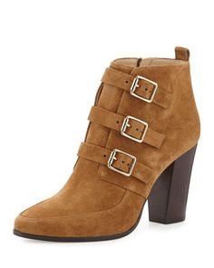 Hutch Suede Triple-Buckle Boot, Cinnamon by Jimmy Choo at Neiman Marcus.