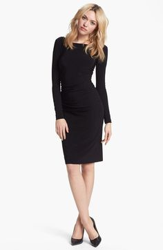 Cocktails & Date Night: Long Sleeve LBD - add sheer tights, nude or black, with black or nude heels