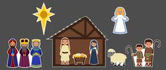 Activity: Christmas Song Nativity - download LDS printables, object lessons, activity ideas, and teaching tips at Mormon Share.