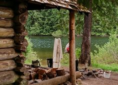 Perfect location for a cabin...right next to a stream <3
