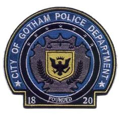 "Batman - ""The Dark Knight"" City of Gotham Police Department Badge 4"" Patch"