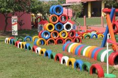 Fun DIY Backyard Play Areas The Kids Will Love – TwentyFive Things for Fun Loving Families Informations About my ideas board Pin You can … Kids Outdoor Play, Kids Play Area, Backyard For Kids, Diy For Kids, Garden Kids, Play Areas, Tire Playground, Outdoor Playground, Backyard Water Parks