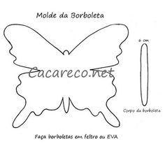 molde borboletas de feltro