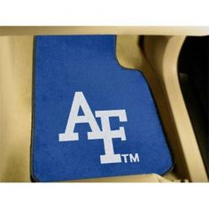 Air Force Falcons NCAA Car Floor Mats (2 Front). Each Fan Mats product is produced in a 250;000 sq. ft. state-of-the art manufacturing facility. Only the highest quality; high luster yarn with 16 oz. face weight is used. These mats are chromo jet printed; allowing for unique; full penetration of the color on the machine washable non-skid Duragon latex backing with a sewn edge  - making for a beautiful and lasting piece for even the most aggressive fan.  Anything else would be unsporting.…