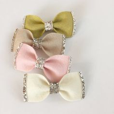 Baby/Toddler Wide Glitter Felt Bow in Blush on a Nylon Headband or Clip