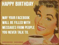 Birthday Facebook messages meme