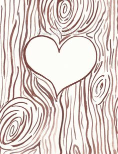 Template For Initials Carved Into A Tree Trunk, Jpg File, Valentine's Day Card…