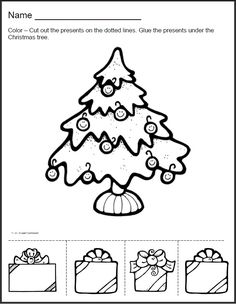 Christmas Counting Exercise Numbers 110  for PreK K or 1st