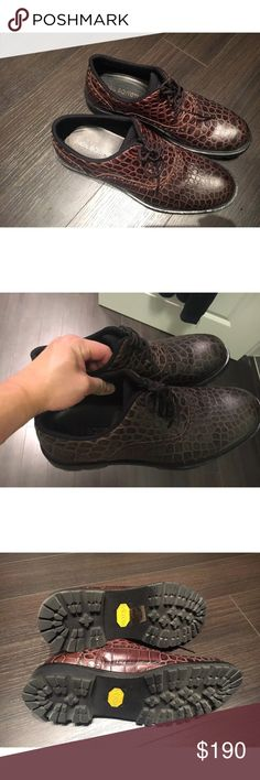 Neil Barrett Croc embo leather shoes sz. 6 EU39 Worn a few times. No box. Will be shipped in a different box. Neil Barrett Shoes Oxfords & Derbys