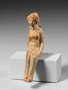 Terracotta statuette of a seated woman  Hellenistic,2nd-1st century BC  Greek,Asia Minor