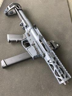 SBR Weapons Guns, Airsoft Guns, Guns And Ammo, Ar Pistol, Battle Rifle, Submachine Gun, Custom Guns, Military Discounts, Cool Guns