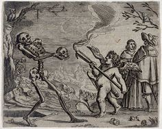 Death and the cupid German, 17th century