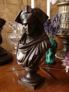 Rare Eisen Büste Skulptur Grégoire 19.Jh Kunsteisenguss Gußeisen France l Alsace