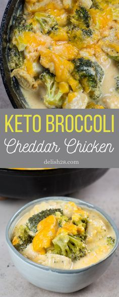 KETO BROCCOLI CHEDDAR CHICKEN ( ONE PAN RECIPE ) Broccoli Cheddar Chicken, Garlic Parmesan Chicken, Creamy Lemon Chicken, Pan Recipe, Rice Ingredients, Broccoli Florets, One Pan Meals, Food Blogs, How To Cook Chicken