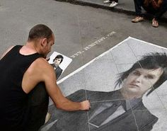 so this man made a beautiful drawing from The Rev on the streets
