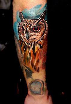 Owl Tattoo on Arm - 55 Awesome Owl Tattoos <3 <3