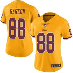 a3e89007d85 Nike Redskins  88 Pierre Garcon Gold Women s Stitched NFL Limited Rush  Jersey Trent Williams