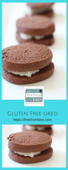 Make these incredible gluten free Oreo's using the Free From Fairy's wholegrain gluten free flour blend. #glutenfree #oreo #recipe #wholegrain #fairyflour #glutenfreeoreo